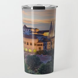 Palacio Nacional de Sintra at dusk, Portugal Travel Mug