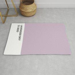 Lavender Sky Pantone Chip • Lilac Mist •Purple • Pastel • VSCO •Mid Century Modern • Aesthetic Rug