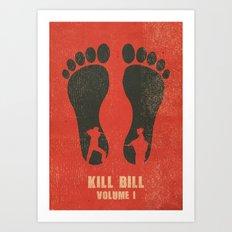 Kill Bill Vol. 1 Vintage Letterpress Poster Art Print