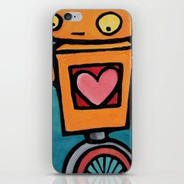 Robot - This Is Wobbly Love iPhone Skin