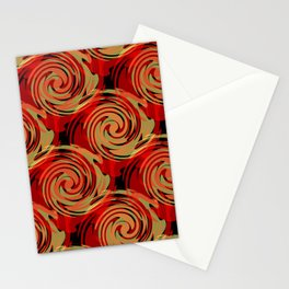 Abstracty pattern in red and brown tones. Stationery Cards