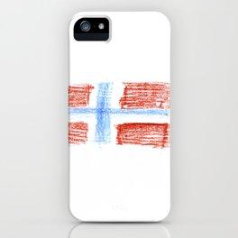 flag of norway 8 – Chalk version  snow,scandinavia,scandinavian,norwegian,oslo iPhone Case