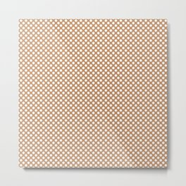 Butterum and White Polka Dots Metal Print