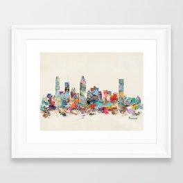 Montreal Quebec skyline Framed Art Print