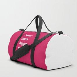 I Wear Heels Funny Quote Duffle Bag