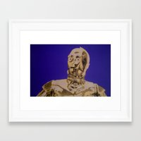 c3po Framed Art Prints featuring C3PO by cocksoupart