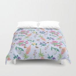Violets Honeysuckle & Lavender Pattern Duvet Cover