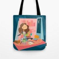 hermione Tote Bags featuring Hermione by breakfastjones