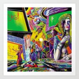 Cybercafé (Closeup) Art Print