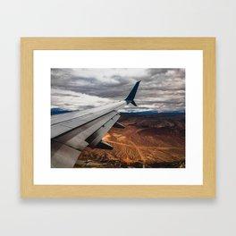 wing over mars Framed Art Print