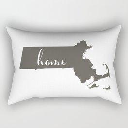 Massachusetts is Home Rectangular Pillow