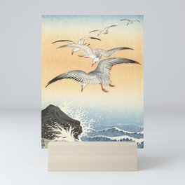 Japanese Seagull Woodblock Print by Ohara Koson Mini Art Print