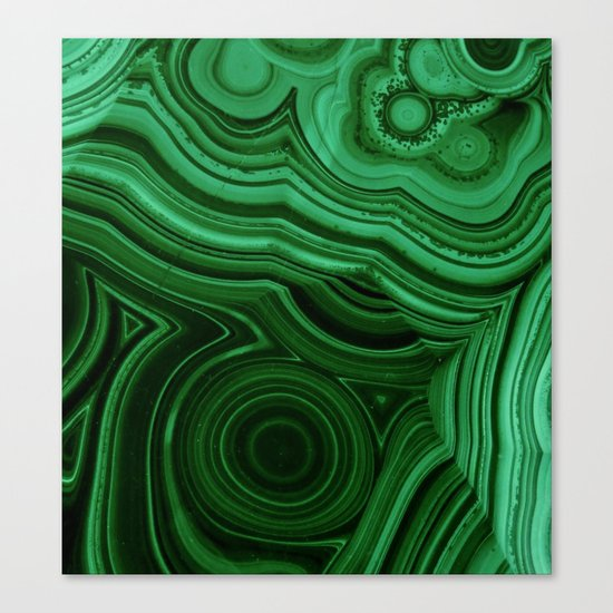GREEN MALACHITE STONE PATTERN Canvas Print