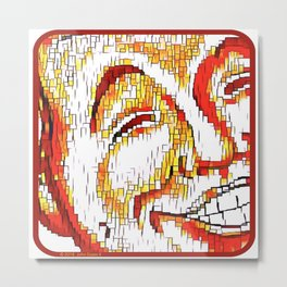 The Face of Mirth Metal Print