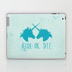 Ride or Die x Unicorns x Turquoise Laptop & iPad Skin