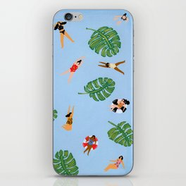 Floating in the sea iPhone Skin