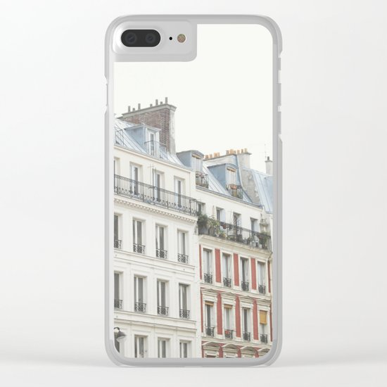 Good Morning, Paris Clear iPhone Case
