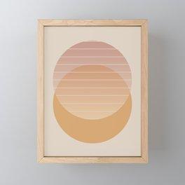 Minimal Circle Abstract I Framed Mini Art Print