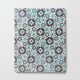 Arabic Tiles in Lisbon Portugal Metal Print