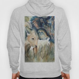 Watercolor Lion and Lioness Hoody