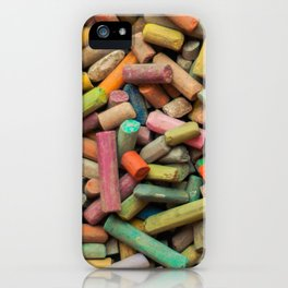 colored pastel chalks iPhone Case