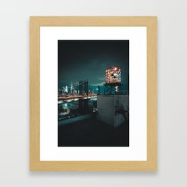 The Water Tower New York City (Color) Framed Art Print
