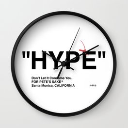 """HYPE"" Wall Clock"