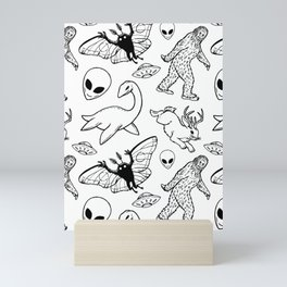 Cryptid Pattern: Ink Lines Mini Art Print