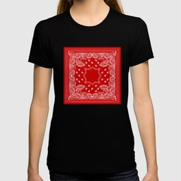 Bandana in Red & White T-shirt