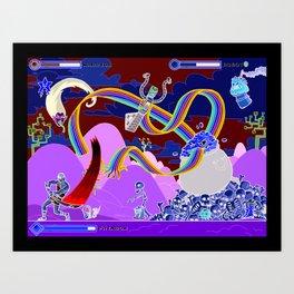 Princess Planet Boss Battle 2 - Painbow Art Print