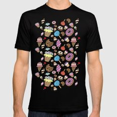 Desserts and Sweets Mens Fitted Tee Black MEDIUM