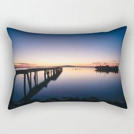 Sunset at Montevideo bay Rectangular Pillow
