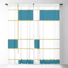 MidCentury Modern Art Aqua Gold Black Blackout Curtain
