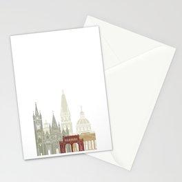 Guadalajara skyline poster Stationery Cards