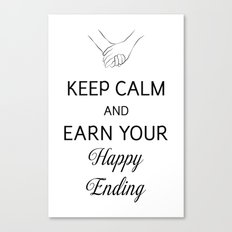 Earn Your Happy Ending [Black] Canvas Print