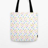 sprinkles Tote Bags featuring Sprinkles by Vera Mota