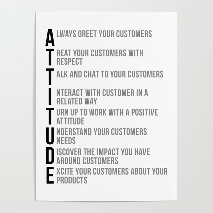 Attitude Quotes Office Decor Office Wall Art Office Art Office Gifts Poster By Motiposter