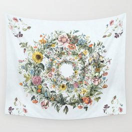 Circle of Life in  Blue Wall Tapestry
