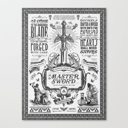 Legend of Zelda Vintage Master Sword Advertisement Canvas Print
