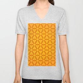 Geometric Pattern Unisex V-Neck