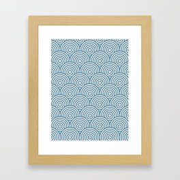 Scales - Blue & White #453 Framed Art Print