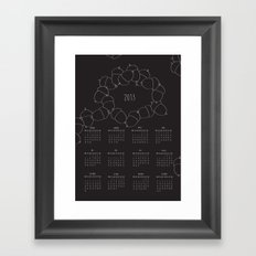 2013 calendar Framed Art Print