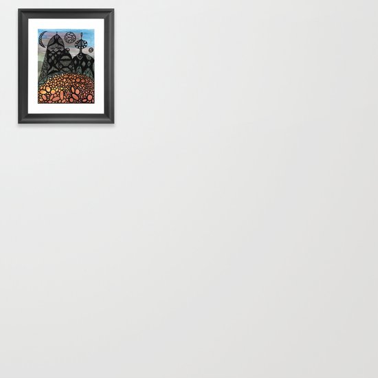 King and Queen Framed Art Print