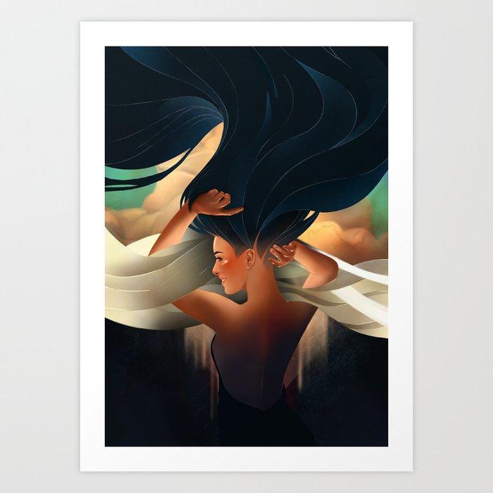 art deco girl Art Print