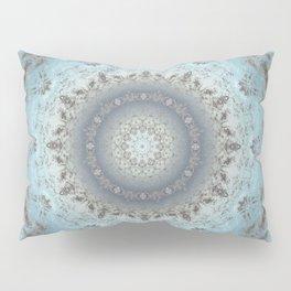 Gray blue kaleidoscope Pillow Sham