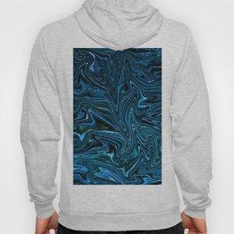Blue Fluid Glass Texture Hoody