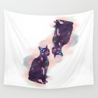 egyptian Wall Tapestries featuring Egyptian cat  by Vita♥G