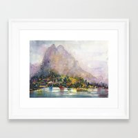 norway Framed Art Prints featuring Norway by KristinaVardazaryan