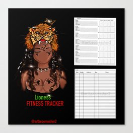 2020 Lioness Edition Fitness & Wellbeing Tracker Canvas Print