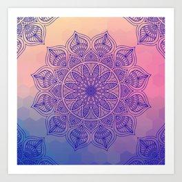 Mild Mandala Art Print